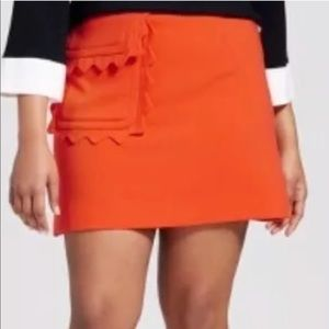 Victoria Beckham Target 2X Twill Skirt Plus Size